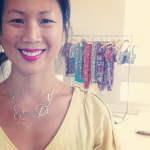 Happy customer wearing her new Artistry Industrial necklace.